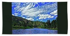Smith River Montana Beach Sheet by Joseph J Stevens