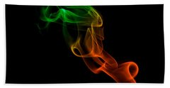 Beach Towel featuring the photograph smoke XXXIII by Joerg Lingnau