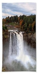 Snoqualmie Falls Beach Towel by Chris Anderson