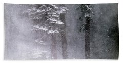 Snow Storm Beach Towel
