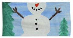 Snowman Beach Sheet by Anthony LaRocca