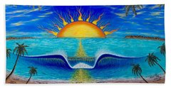 Socal Sunset Beach Towel