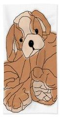 Beach Towel featuring the digital art Soft Puppy by Jayvon Thomas
