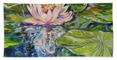 Solitude Waterlily Beach Towel