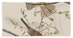 Song Sparrow Beach Towel by John James Audubon