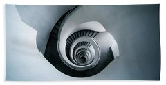 Beach Sheet featuring the photograph Spiral Staircase In Blue Tones by Jaroslaw Blaminsky