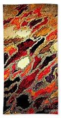 Spirit Journey Through The Fire Beach Towel by Rachel Hannah