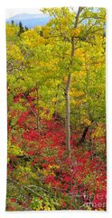 Splash Of Autumn Beach Towel