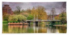 Beach Towel featuring the photograph Spring In The Boston Public Garden by Joann Vitali