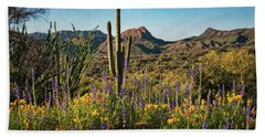 Beach Towel featuring the photograph Spring In The Sonoran  by Saija Lehtonen