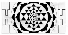 Sri Yantra Beach Towel