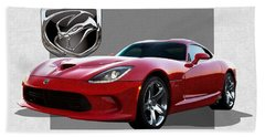 S R T  Viper With  3 D  Badge  Beach Towel