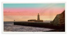 St. Elmo Breakwater Footbridge Beach Towel