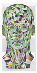 Beach Towel featuring the digital art Stained Glass Abstract by John Haldane