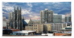 Stamford Cityscape Beach Towel