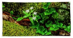 Star Chickweed Mossy Rock Beach Towel