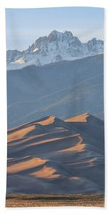 Beach Towel featuring the photograph Star Dune by Aaron Spong