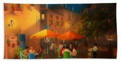 Starry Night Cafe Society Beach Sheet by Joe Gilronan