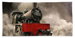 Beach Towel featuring the photograph Steam Engine by Charuhas Images