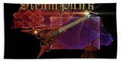 Steampunk Guitar Beach Towel