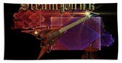 Steampunk Guitar Beach Towel