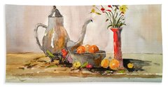 Still Life Beach Towel by Larry Hamilton