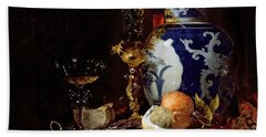 Still Life With A Chinese Porcelain Jar Beach Towel