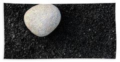 Stone In Soot Beach Towel