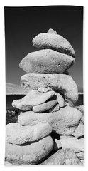 Stone Tower On Halki Island Beach Towel