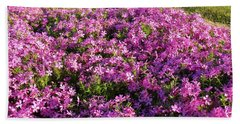 Stop  And Smell The Flowers Beach Towel