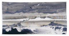 Stormy Sea Beach Sheet