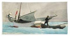 Stowing Sail Beach Sheet