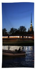 St.petersburg At Night Beach Towel
