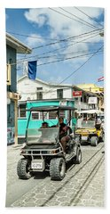 Street Scene Of San Pedro Beach Sheet