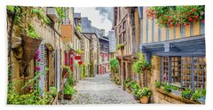 Streets Of Dinan Beach Towel by JR Photography