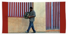 Beach Towel featuring the photograph Stripes by Joe Jake Pratt
