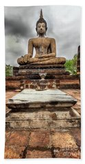 Beach Towel featuring the photograph Sukhothai Historical Park by Adrian Evans