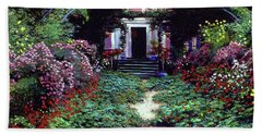 Summer In Giverny Beach Towel