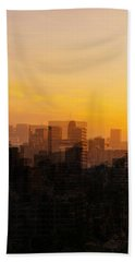 Beach Towel featuring the photograph Summer In The City by Cathy Donohoue