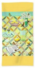 Summer Lavender Lemonade Beach Sheet