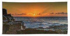 Sun Rising Over The Sea Beach Towel