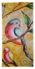 Sunshine Birds Beach Towel