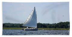 Sunday Afternoon Sail Beach Sheet by Mary Haber