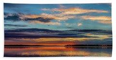 Sundown Beach Towel by Doug Long
