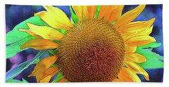 Beach Towel featuring the photograph Sunflower by Allen Beatty