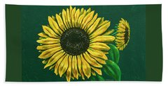 Sunflower Beach Sheet by Ron Haist