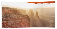 Sunrise At Mesa Arch Beach Towel