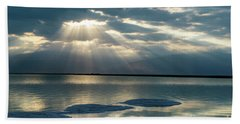 Sunrise At The Dead Sea Beach Towel
