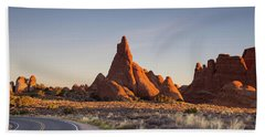 Sunrise In Arches National Park Beach Towel