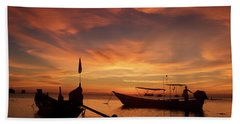 Sunrise On Koh Tao Island In Thailand Beach Sheet